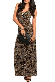 Cherish Cheetah Maxi Dress - Front cropped