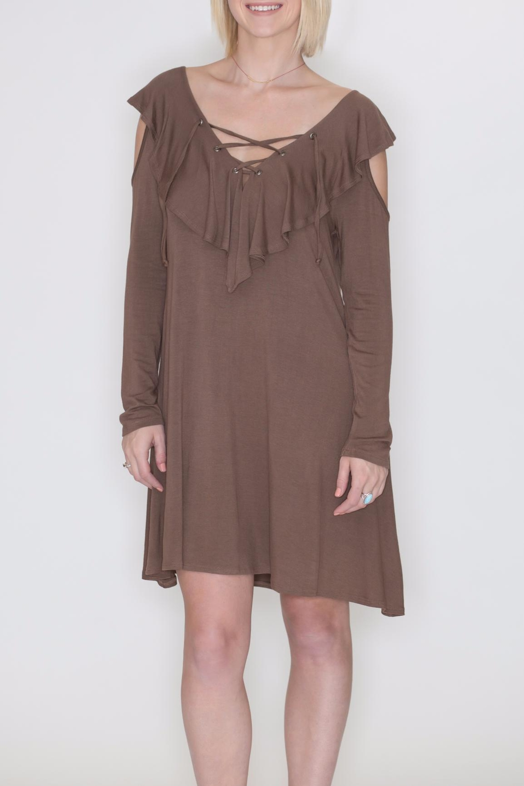 Cherish Cold Shoulder Dress - Main Image