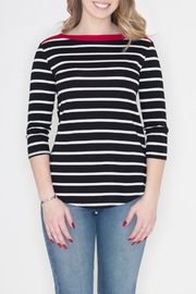 Cherish Contrast Stripe Top - Front cropped