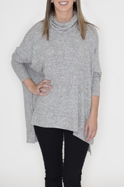 Cherish Heather Cowl Neck Sweater - Product Mini Image