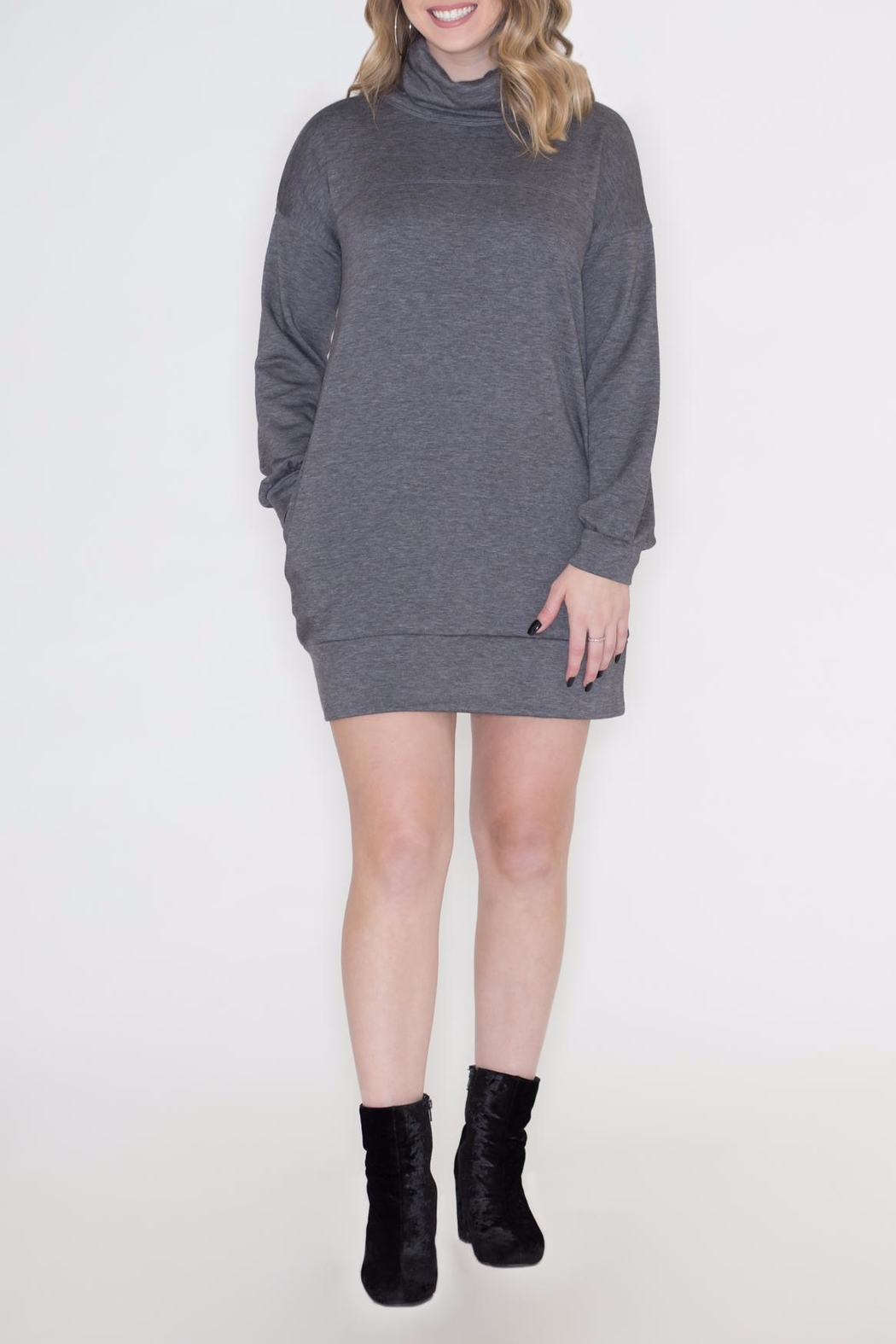 Cherish Cowl Sweatshirt Dress - Main Image