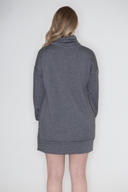 Cherish Cowl Sweatshirt Dress - Back cropped
