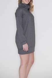 Cherish Cowl Sweatshirt Dress - Side cropped