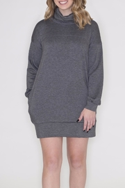 Cherish Cowl Sweatshirt Dress - Front full body