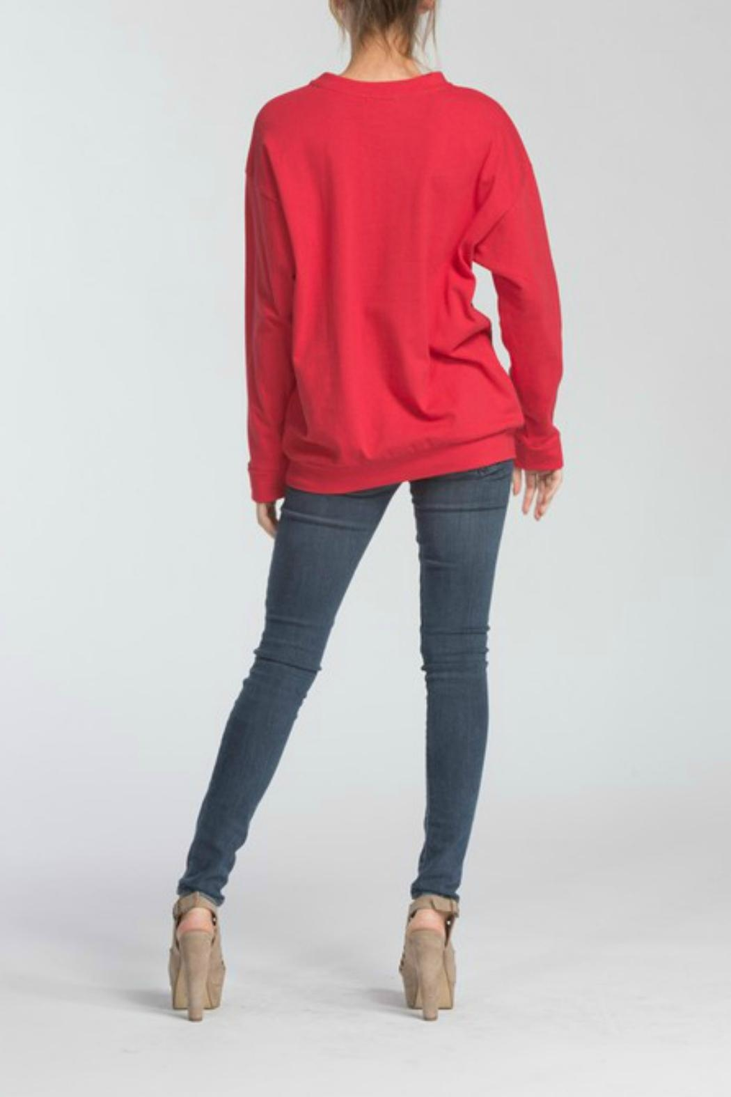 Cherish Terry Knit Top - Side Cropped Image