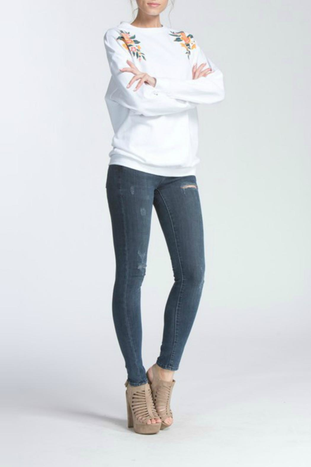 Cherish Terry Knit Top - Front Full Image