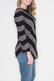 Cherish Diagonal Striped Top - Front full body
