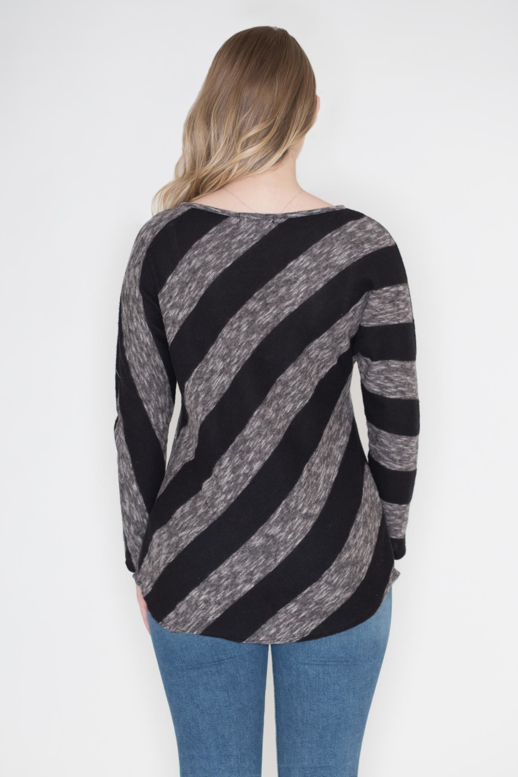 Cherish Diagonal Striped Top - Side Cropped Image