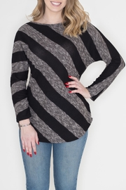 Cherish Diagonal Striped Top - Front cropped