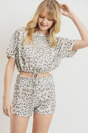 Cherish Drawstring Cheetah Top - Product Mini Image