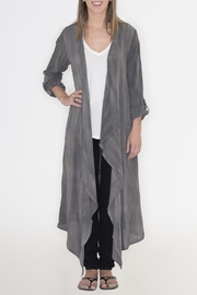 Cherish Charcoal Duster Cardigan - Product Mini Image