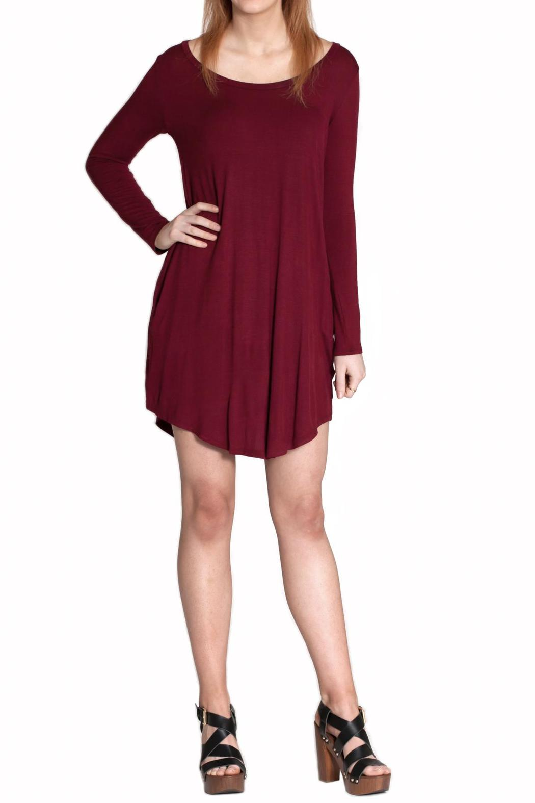 Cherish Elbow Patch Dress - Front Cropped Image