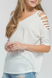 Cherish Emeline Cold-Shoulder Top - Product Mini Image