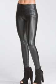 Cherish Fitted Pleather Legging - Product Mini Image