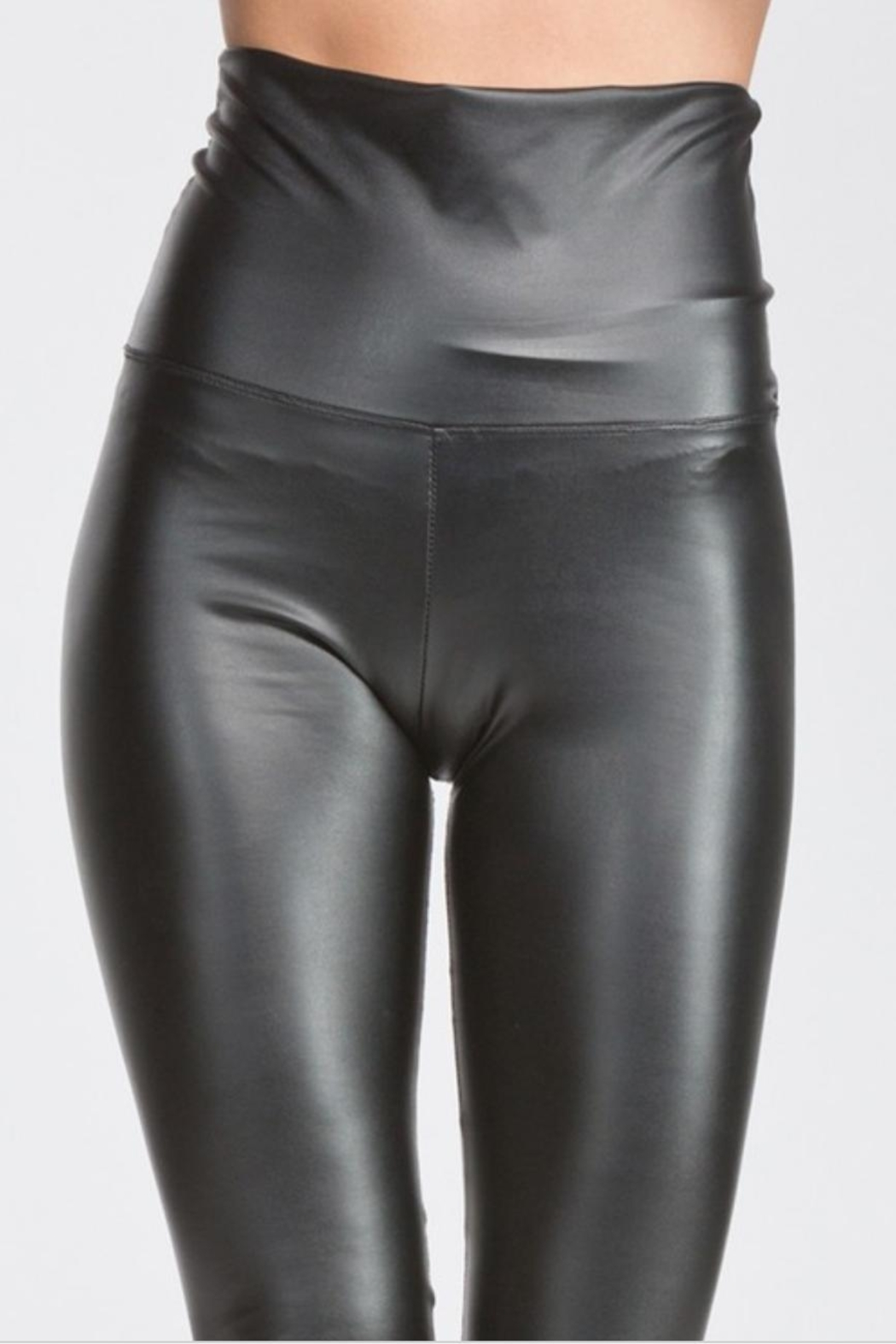 Cherish Fitted Pleather Legging - Back Cropped Image