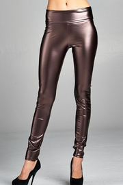 Cherish Fitted Pleather Legging - Front cropped