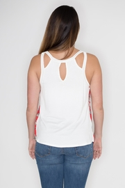 Cherish Floral Cut Out Top - Side cropped