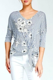 Cherish Floral Knot Top - Front cropped