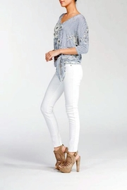Cherish Floral Knot Top - Side cropped
