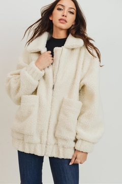 Cherish Fuzzy Bear Jacket - Product List Image