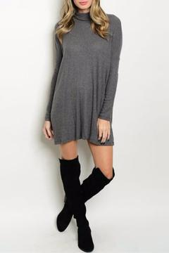 Shoptiques Product: Gray Ribbed Dress