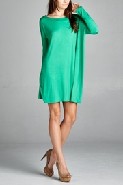 Cherish Green Piko Dress - Product Mini Image