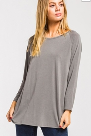Cherish Grey Criss-Cross Back-Top - Product Mini Image