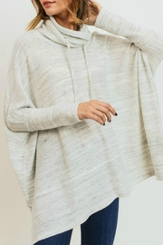 Cherish Grey Marbled Knit Top - Product Mini Image