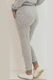 Cherish Heather Grey Jogger - Front full body