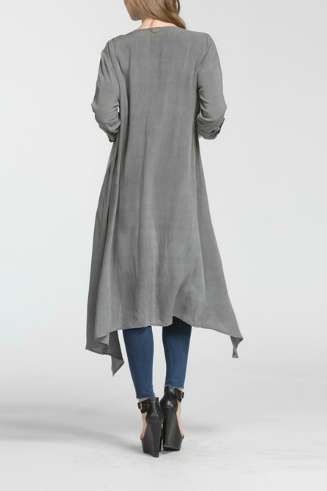 Cherish Hemingway Pocketed Duster - Side Cropped Image