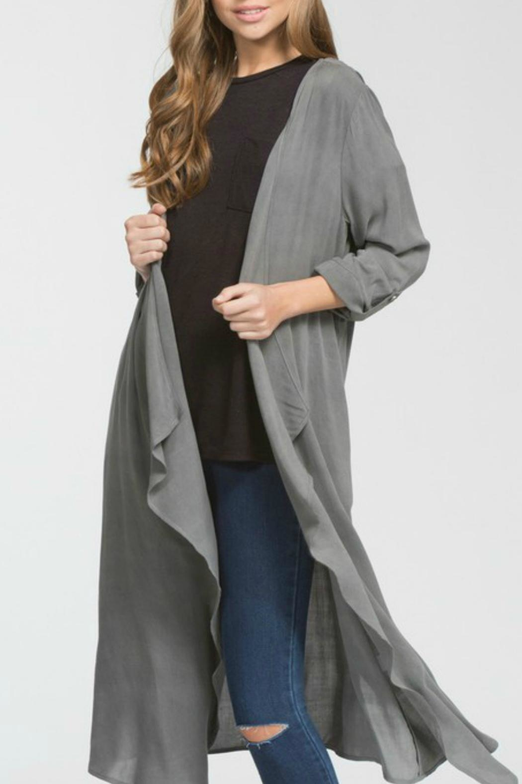 Cherish Hemingway Pocketed Duster - Front Cropped Image