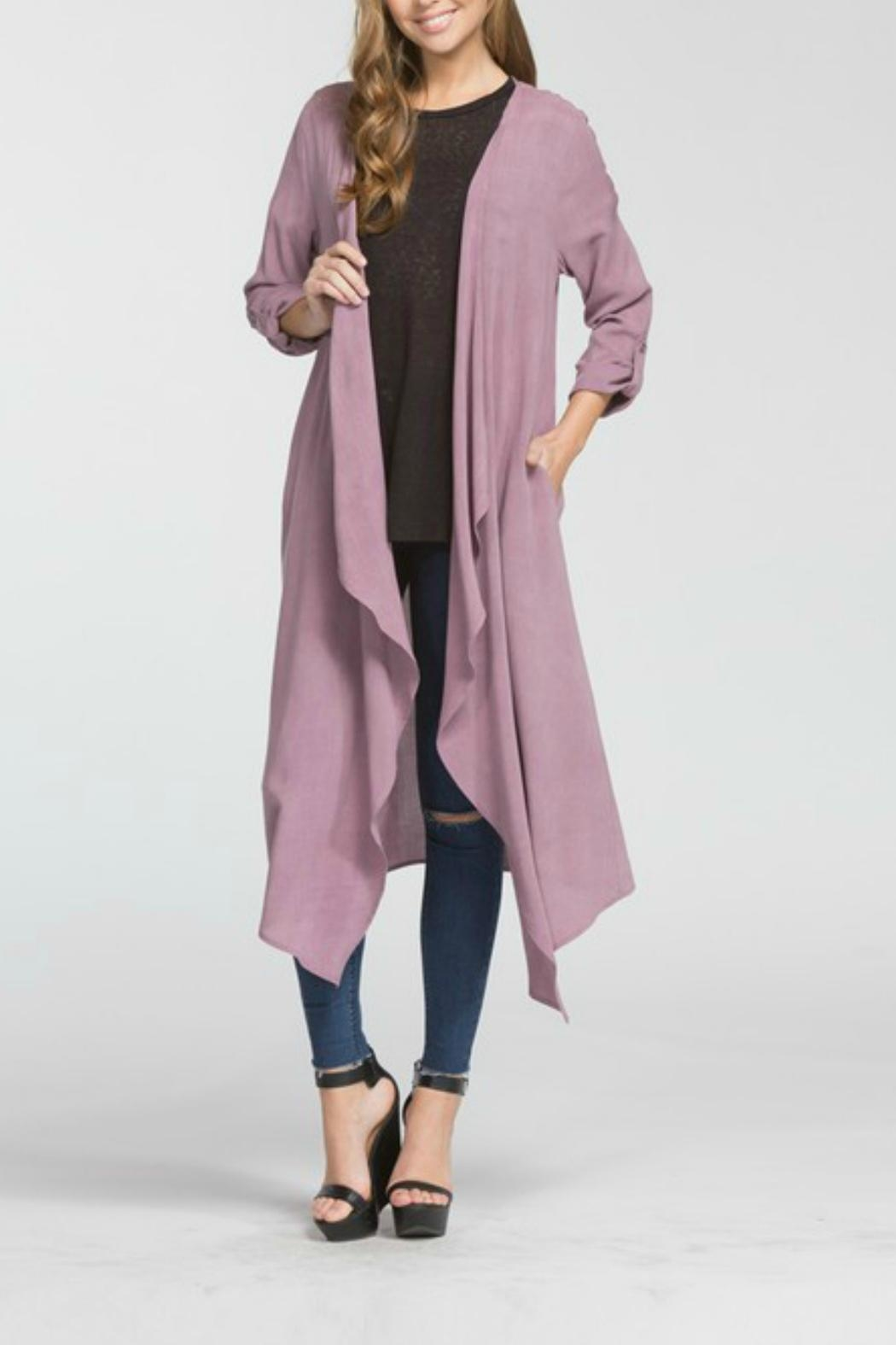 Cherish Hemingway Pocketed Duster - Front Full Image