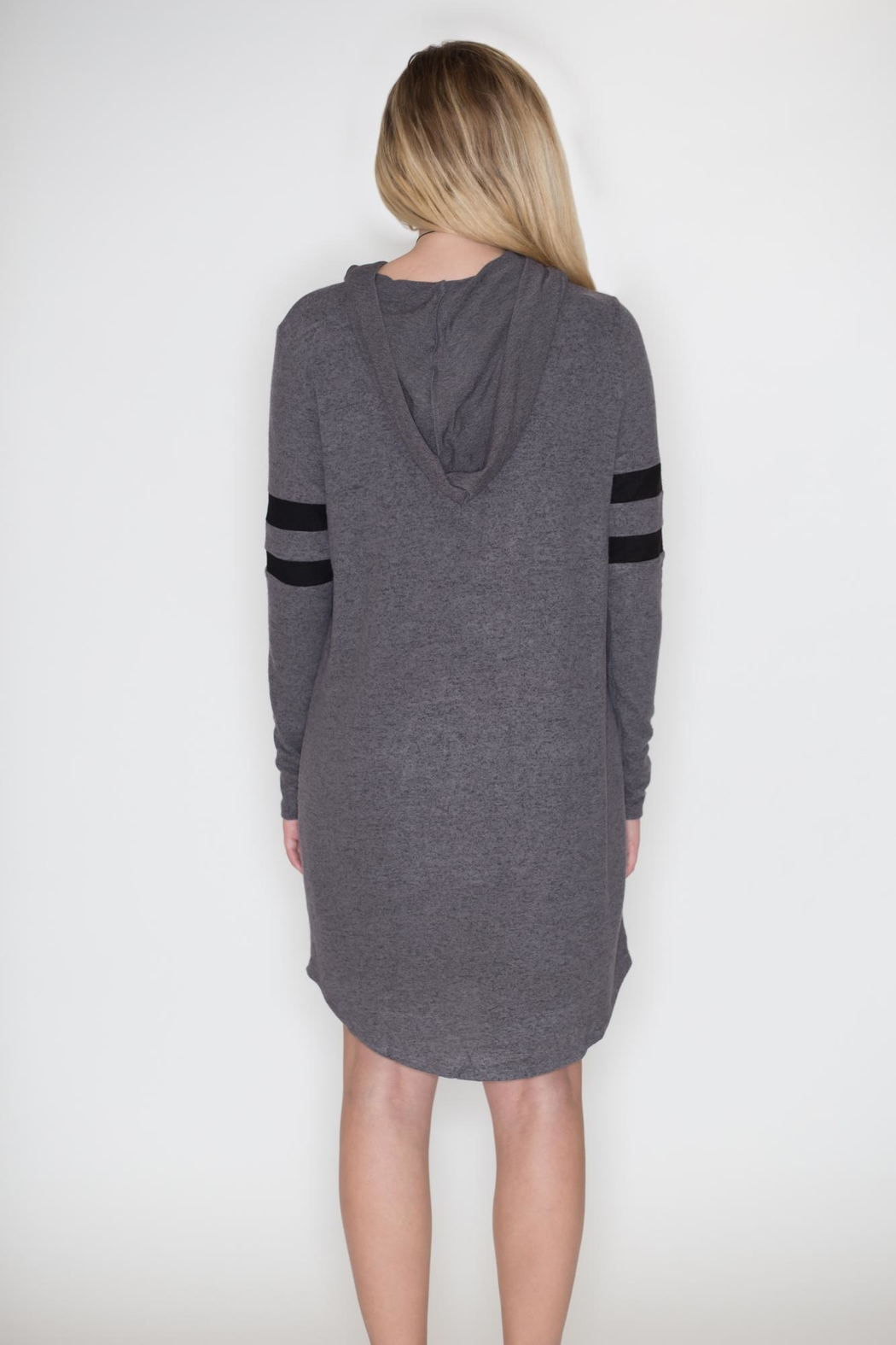 Cherish Hoodie Dress - Side Cropped Image