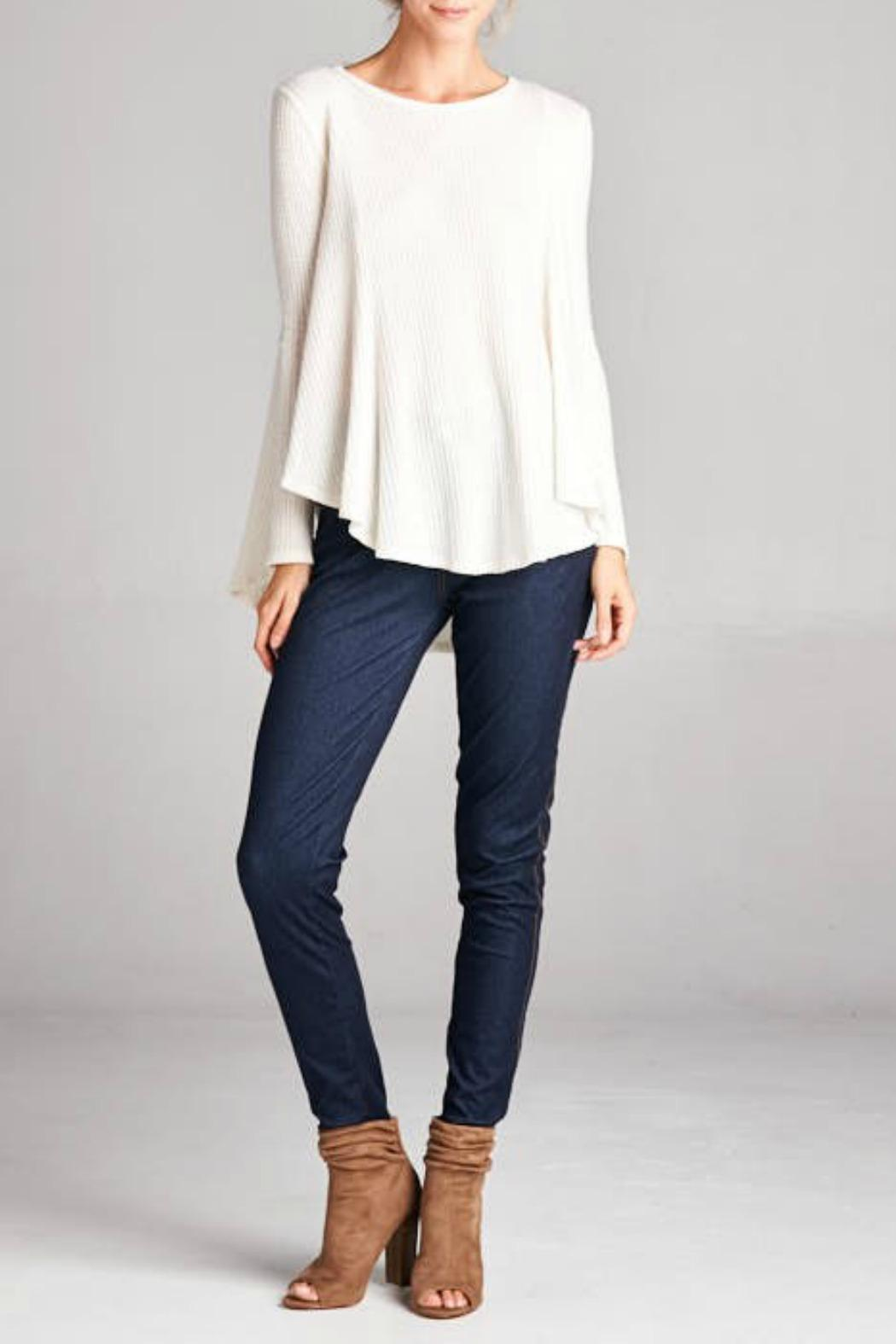 Cherish Ivory Swing Sweater from Connecticut by Deja Vu — Shoptiques