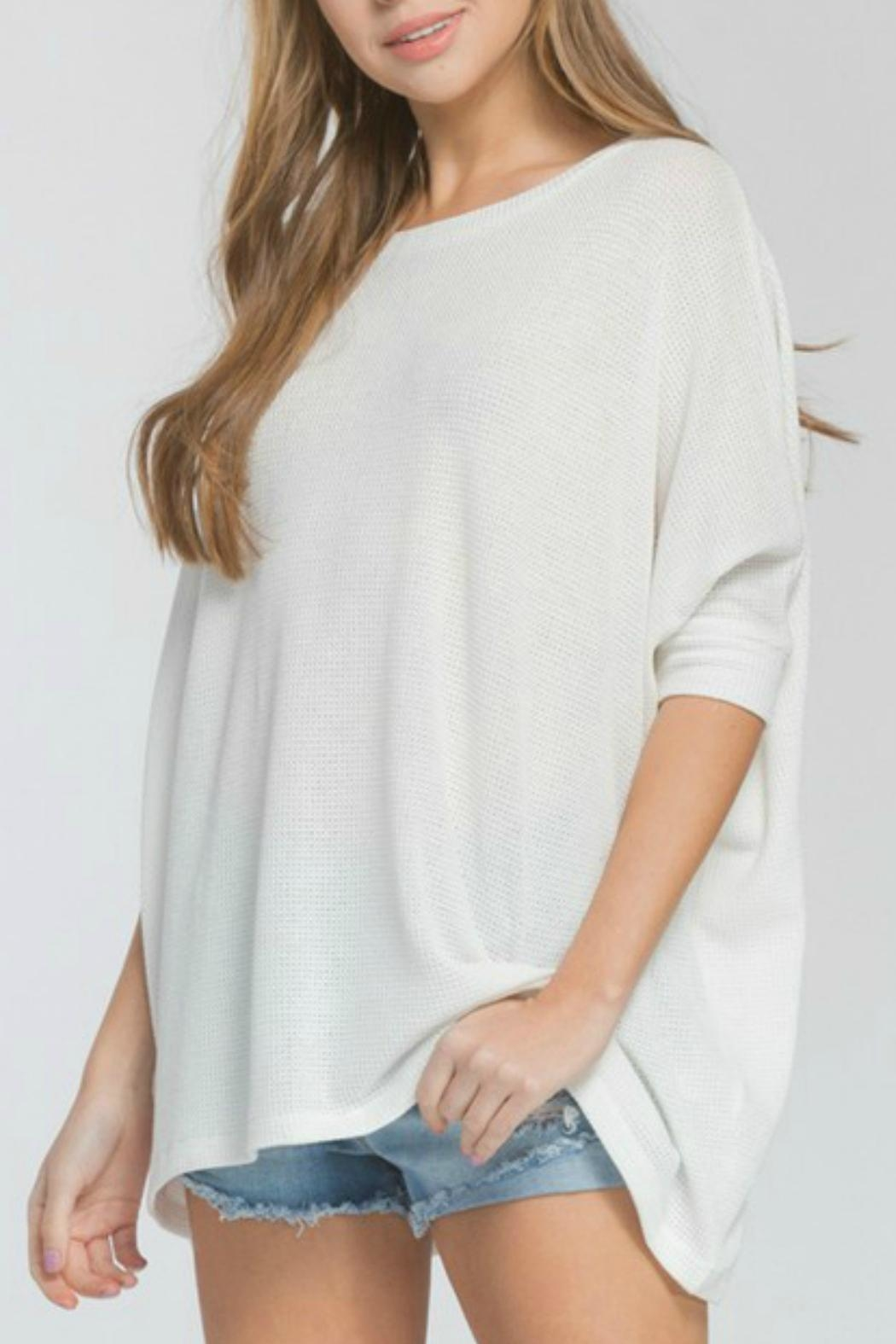 Cherish Kensington Knit Top - Front Cropped Image
