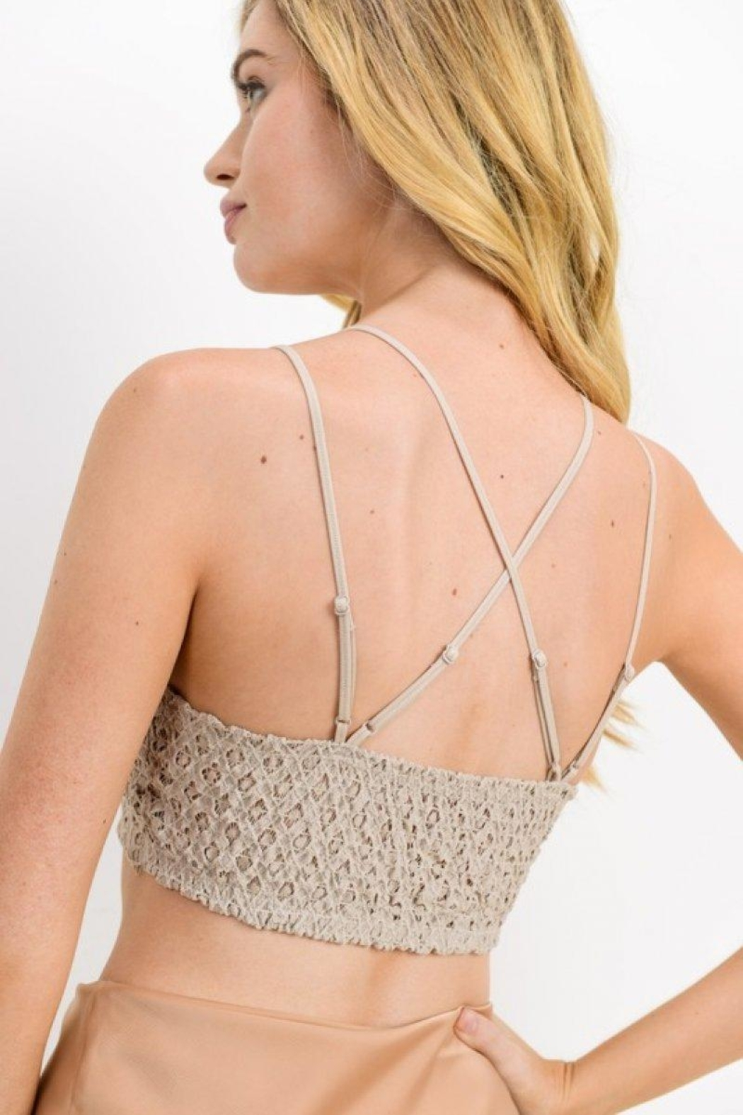 Cherish Lace Padded Bralette - Front Full Image