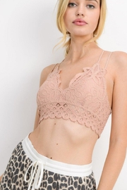 Cherish Lace Padded Bralette - Front cropped
