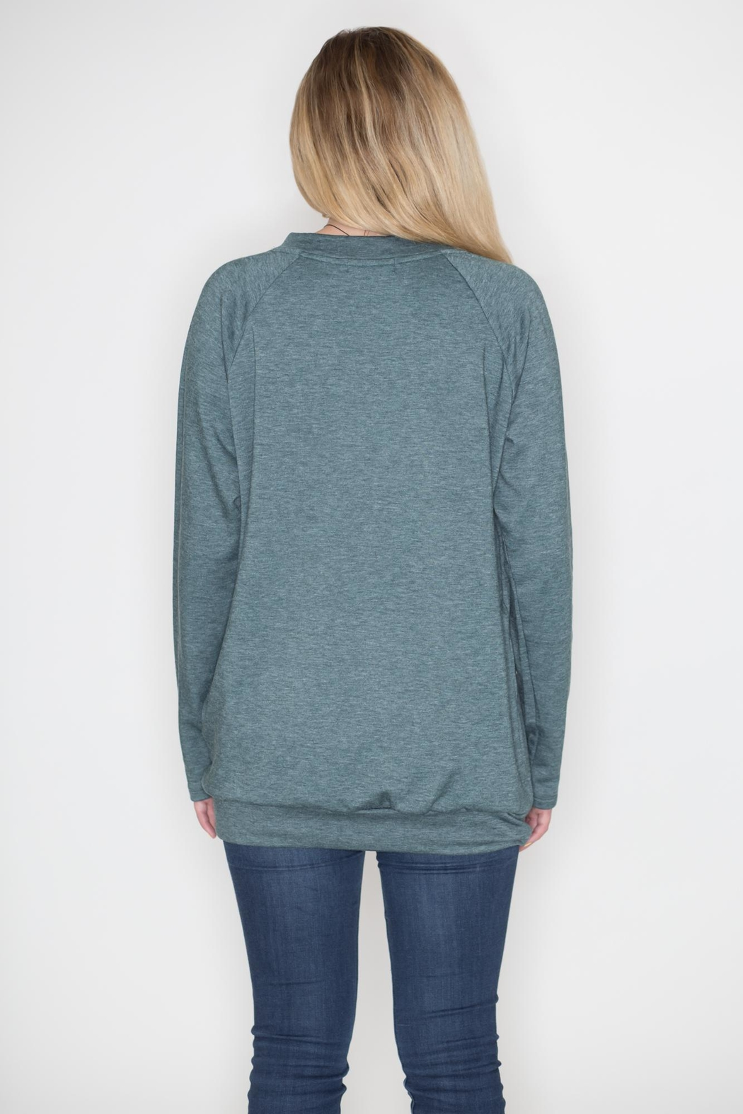 Cherish Lace Up Pullover Top - Side Cropped Image
