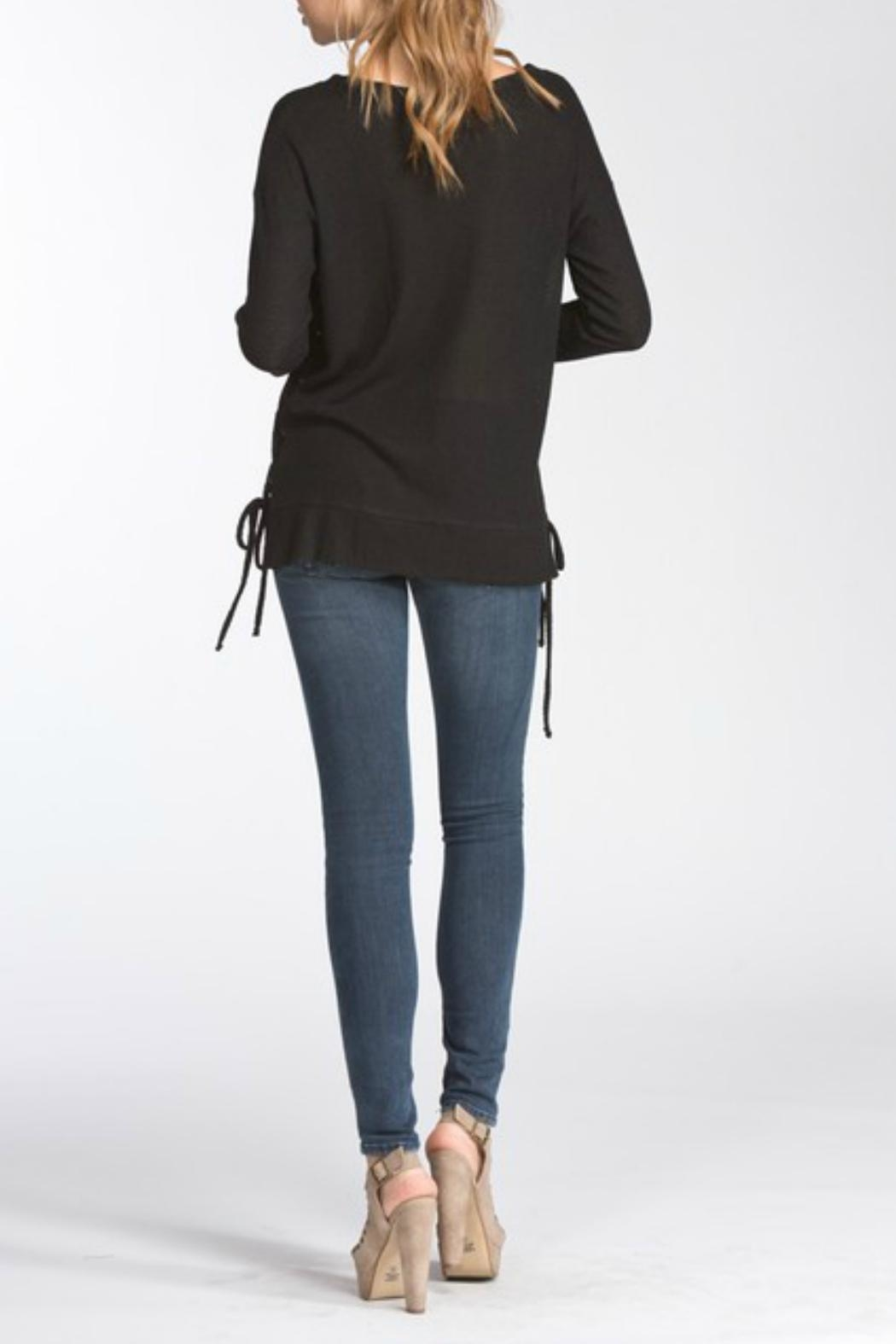 Cherish Lace-Up Side Longsleeve - Side Cropped Image