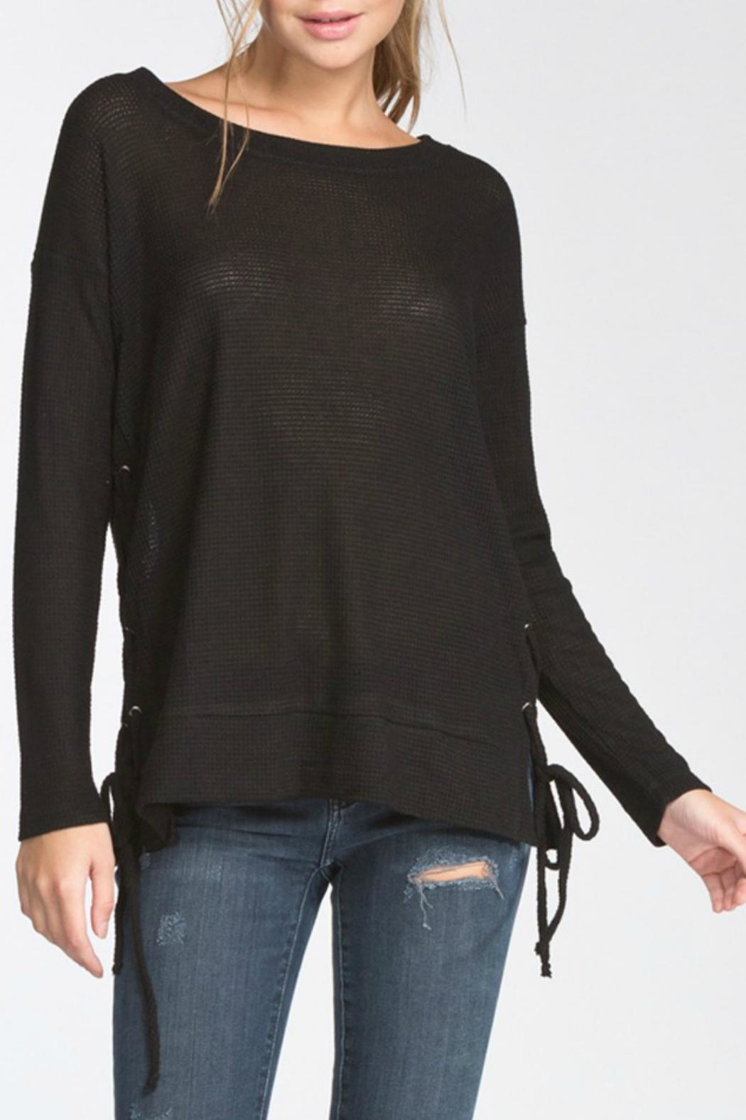 Cherish Lace-Up Side Longsleeve - Main Image