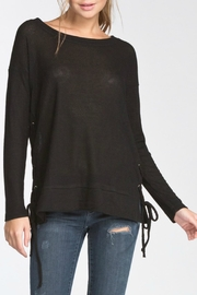 Cherish Lace-Up Side Longsleeve - Front cropped