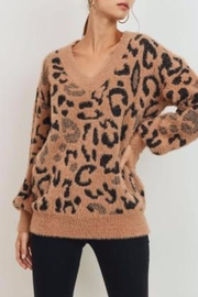 Cherish Leopard Eyelash Top - Product Mini Image