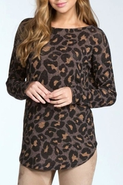 Cherish Leopard Open Back Sweater - Product Mini Image