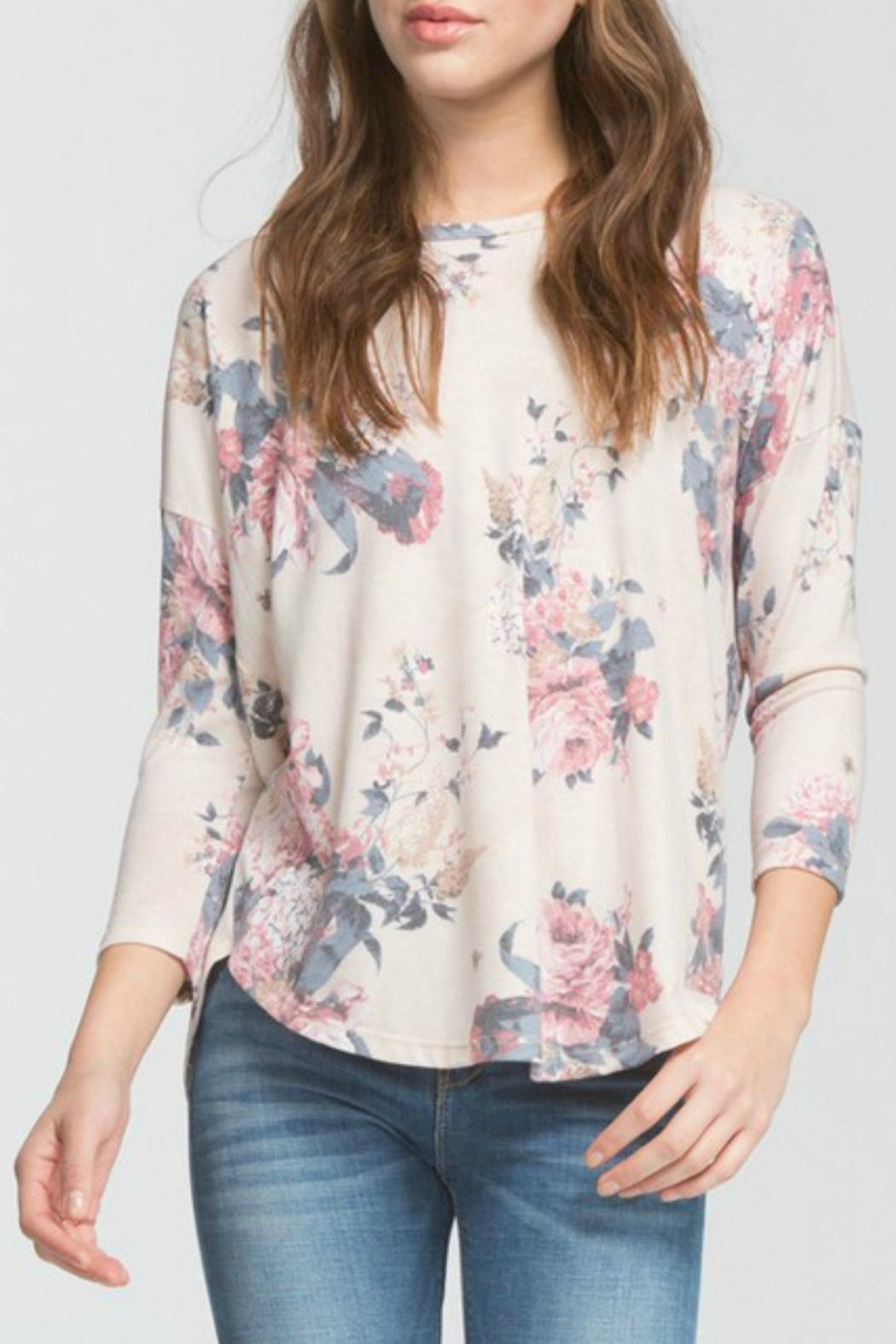 Cherish Lina Floral Top - Front Full Image