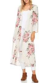 Cherish Long Floral Kimono - Product Mini Image