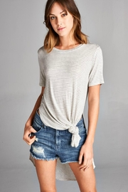 Cherish Long Side-Slit Top - Other