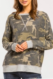 Cherish Long-Sleeve Camo Top - Product Mini Image
