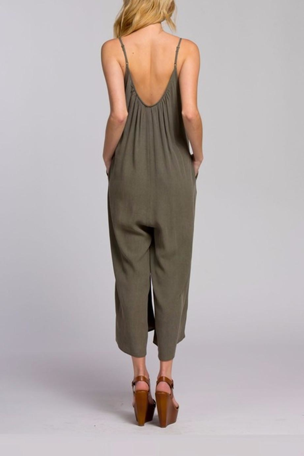 Cherish Loose Fit Jumpsuit - Back Cropped Image