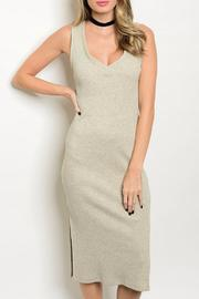 Cherish Midi Oatmeal Dress - Product Mini Image