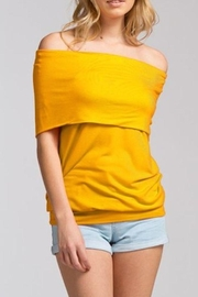 Cherish Mustard Top - Front cropped